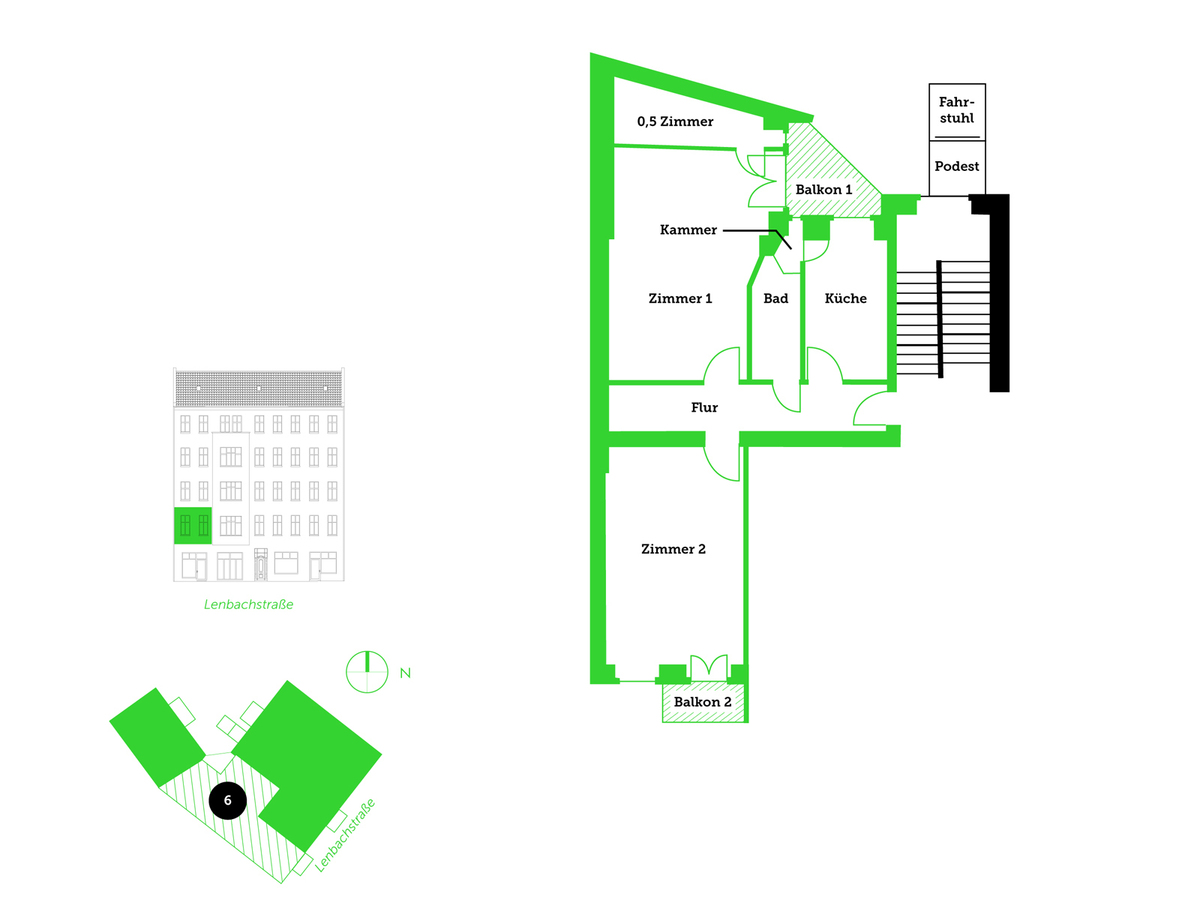 Floor plan unit 6 | Lenbachstraße