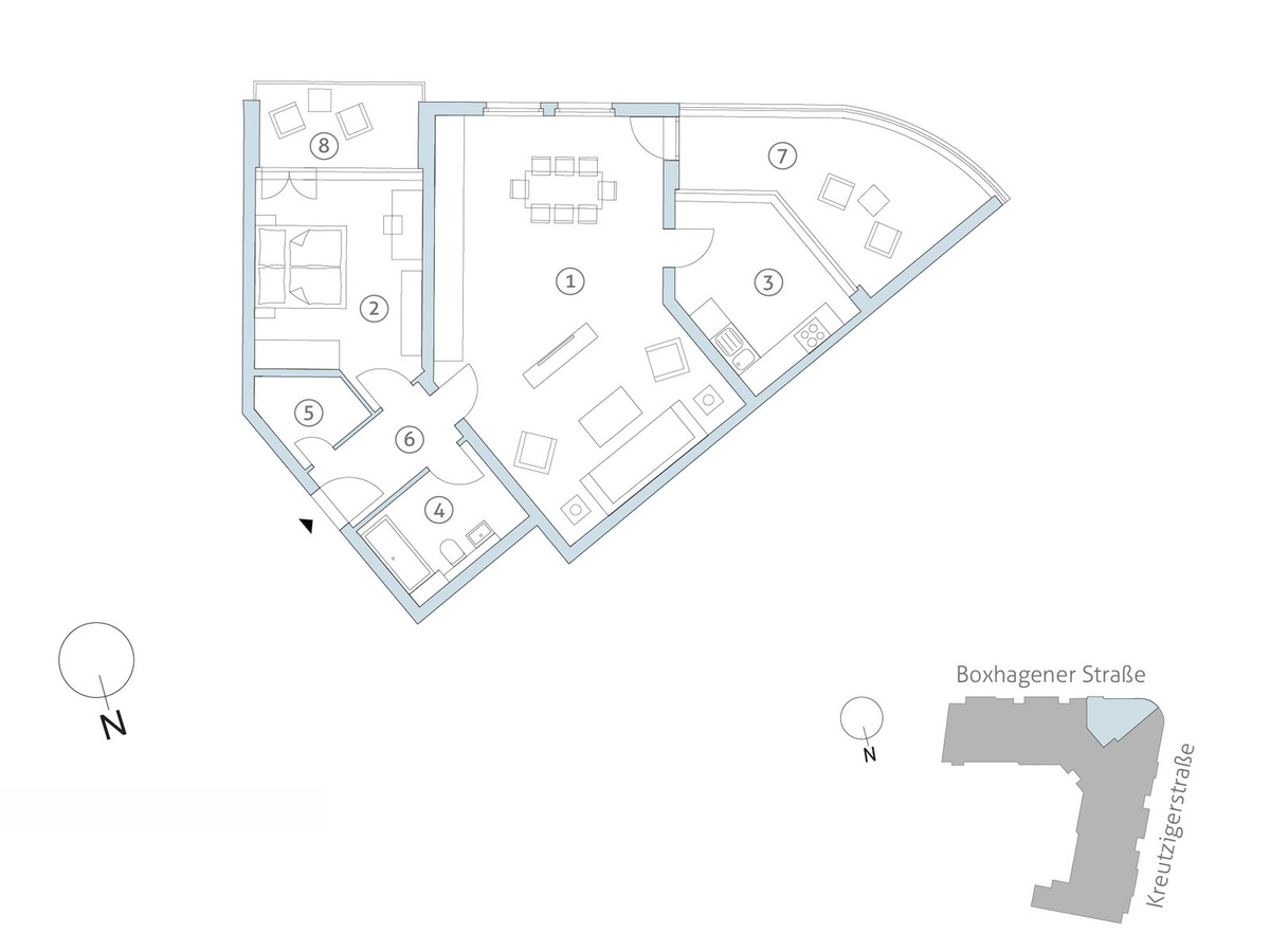 Floorplan WE26 | Boxhagener Straße