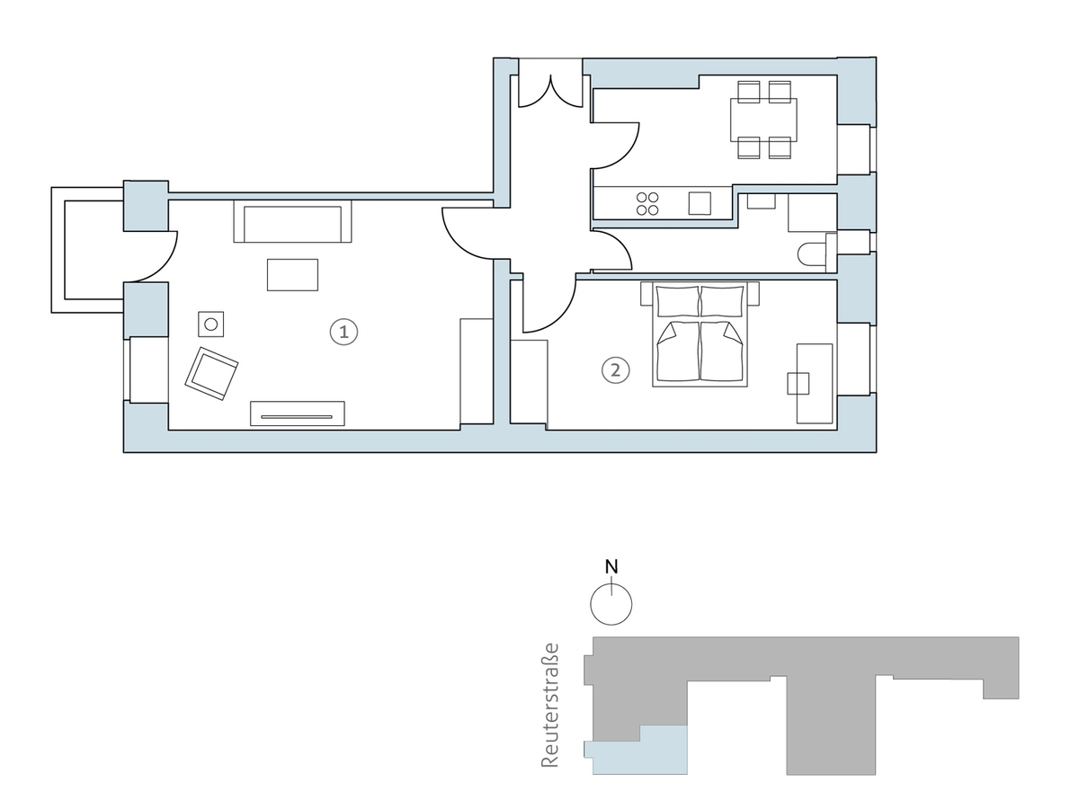 Floor plan unit 01 | Reuterstraße