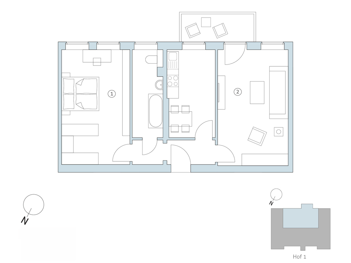 Floor plan no 23 | Binzstraße