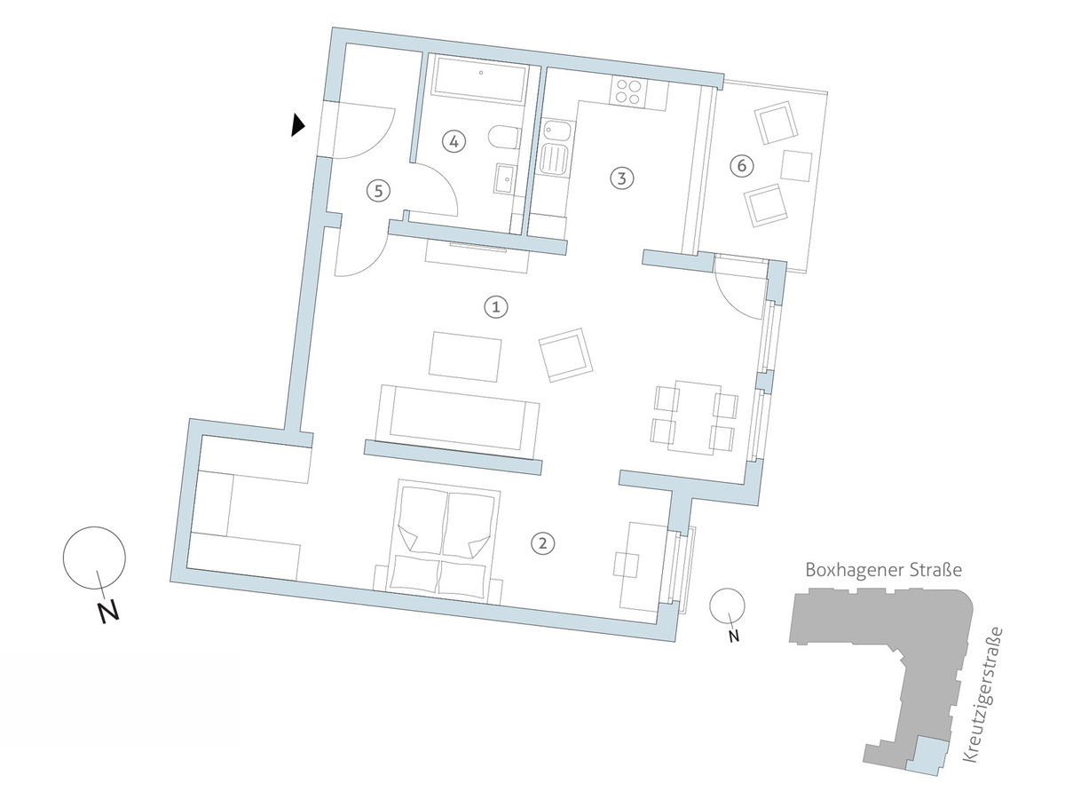 Floorplan WE43 | Kreutzigerstraße
