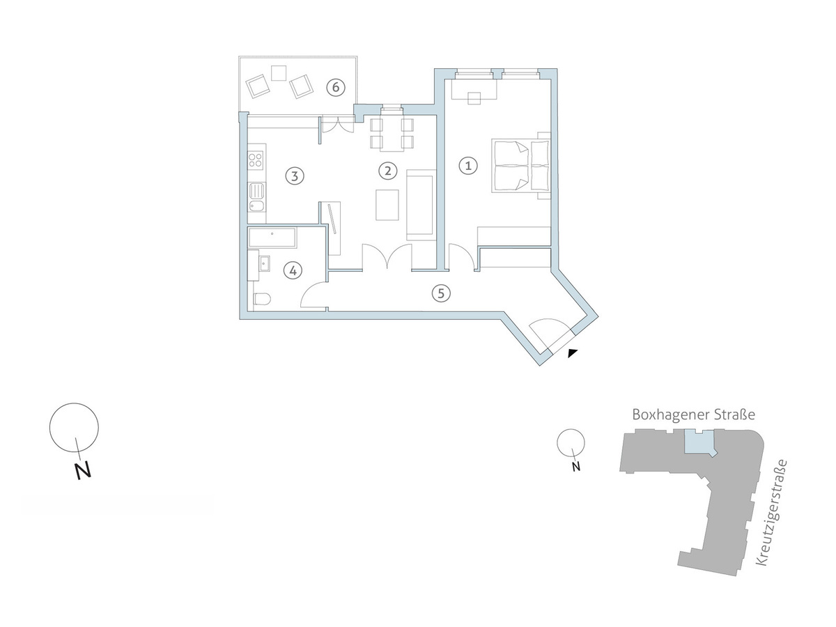 Floor plan unit 27 | Boxhagener Straße