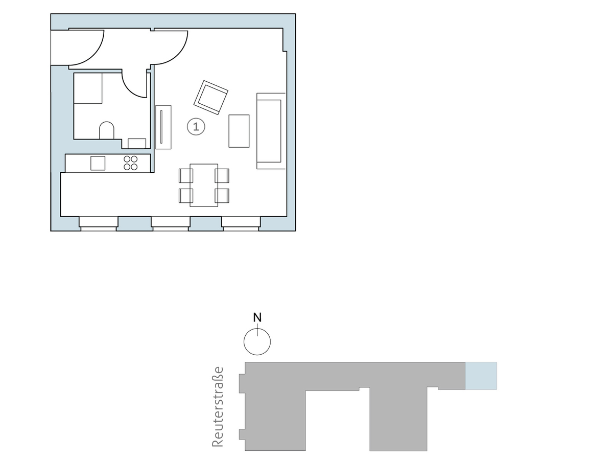 Floor plan unit 41 | Reuterstraße