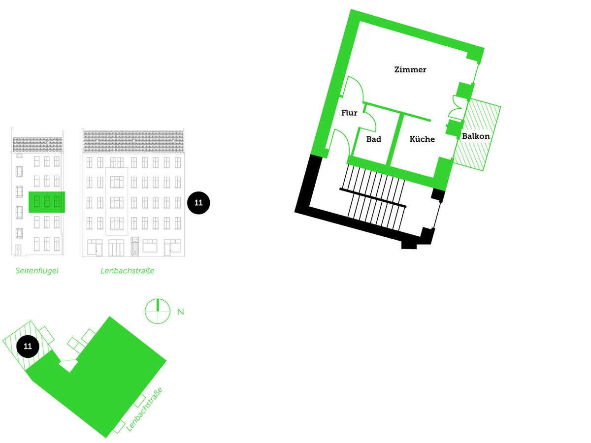 Floor plan unit 11 | Lenbachstraße