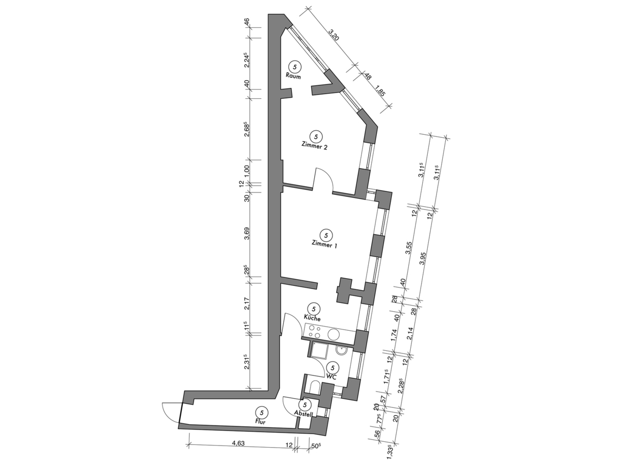 Floor plan unit 05 | Erasmusstraße
