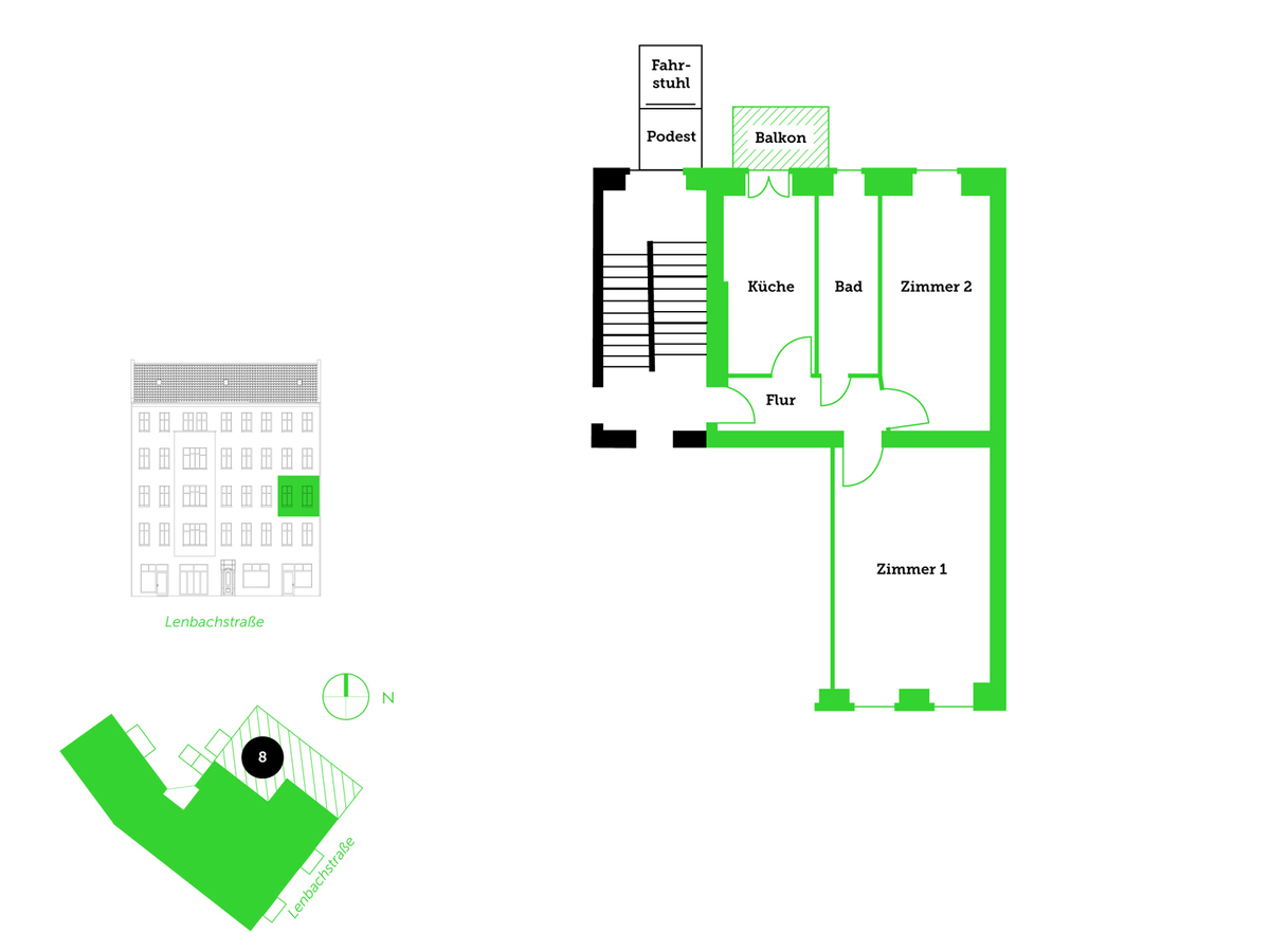Floor plan unit 8 | Lenbachstraße