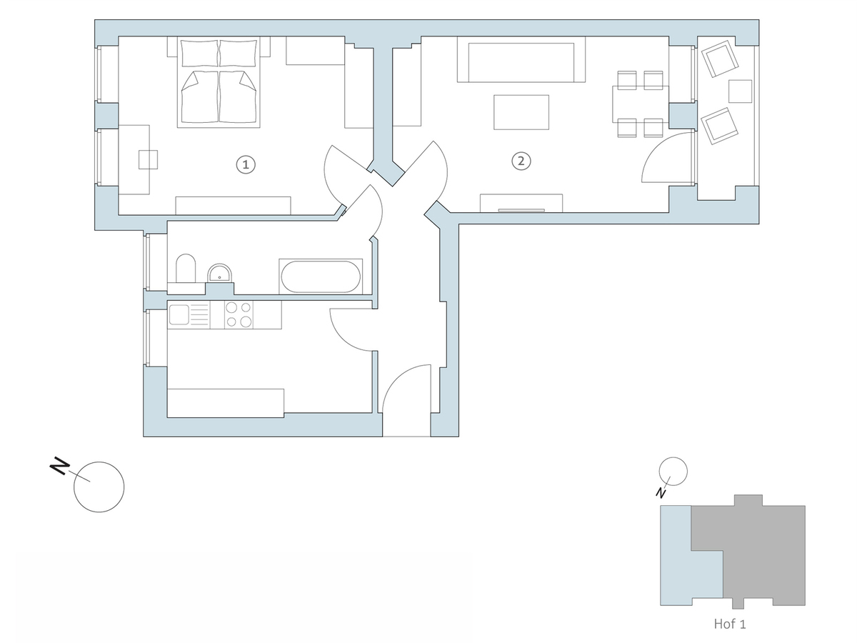 Floor plan no 16 | Binzstraße