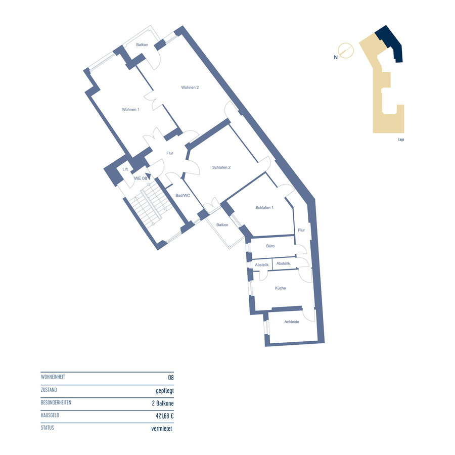 Floor Plan Unit 8 | Riehlstraße