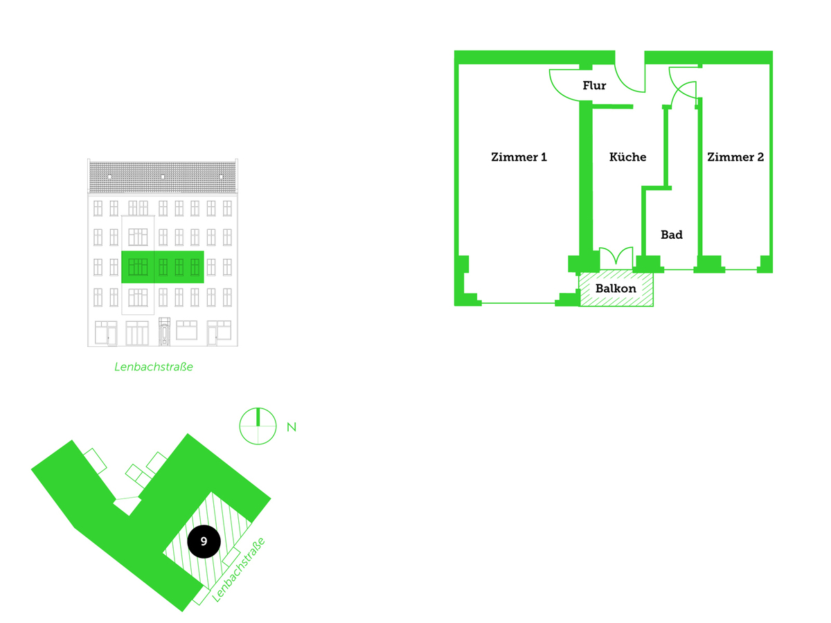 Floor plan unit 9 | Lenbachstraße