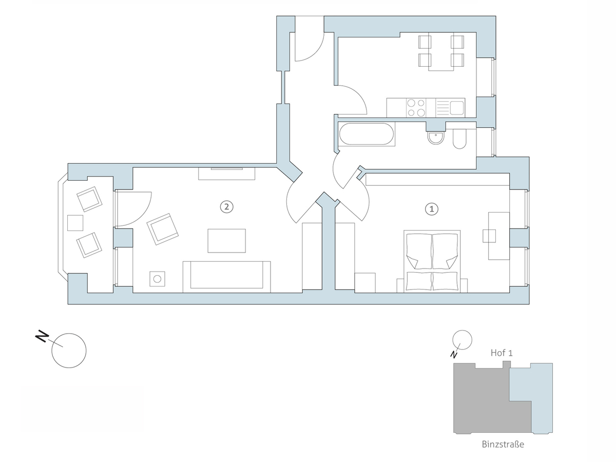 Floor plan no 5 | Binzstraße