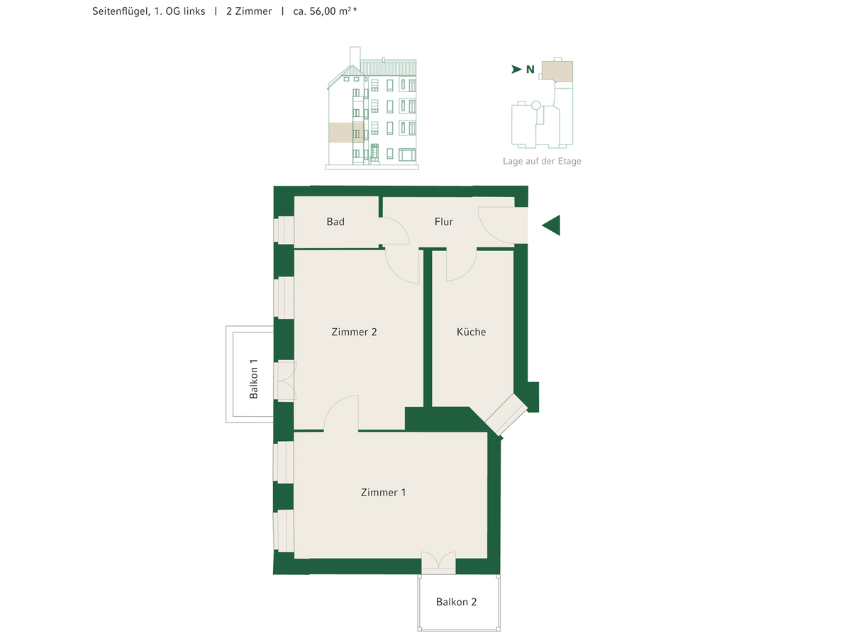 Floorplan Unit 11 | Johannisberger Straße
