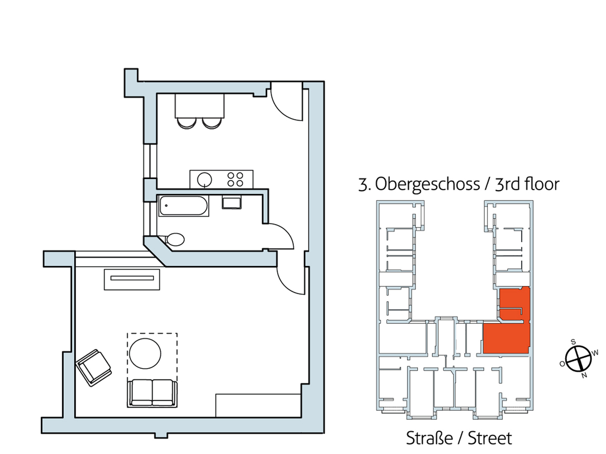 Floor plan Unit 28 | Hasenheide