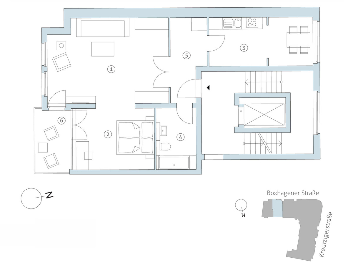 Floorplan WE62 | Boxhagener Straße