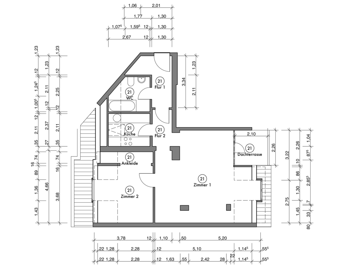 Floor plan unit 21 | Erasmusstraße
